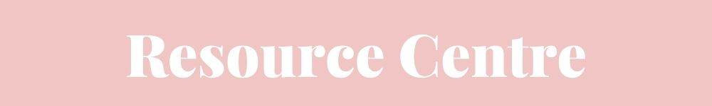 """Pink background with white text reading """"Resource Centre"""""""